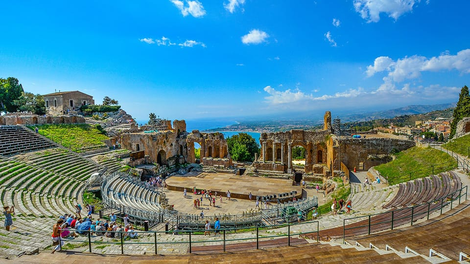 The ancient theatre of taormina - Excursions Sicily